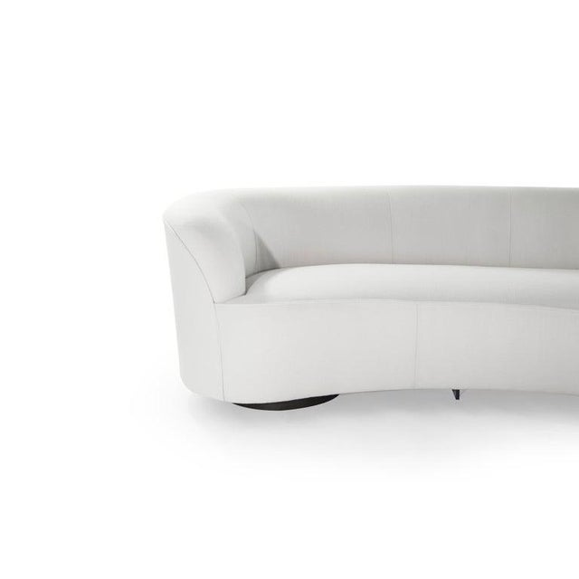 Textile Large Scale Serpentine Sofa by Vladimir Kagan For Sale - Image 7 of 13