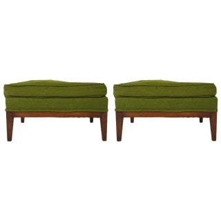 Pair of 1960s Ottomans For Sale