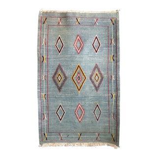 Vintage Moroccan Flat Weave Rug - 2′ × 3′3″
