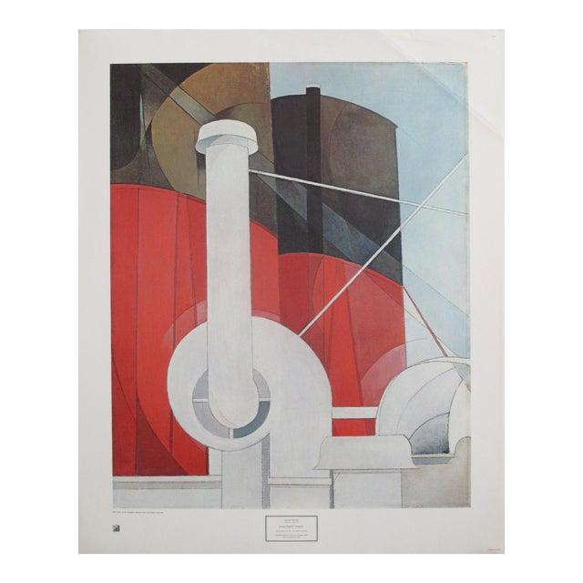 1977 Original Exhibition Poster, Charles Demuth, Paquebot Paris For Sale