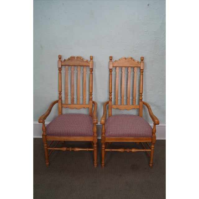 Drexel Heritage Bannister Back Dining Chairs - 4 - Image 2 of 10