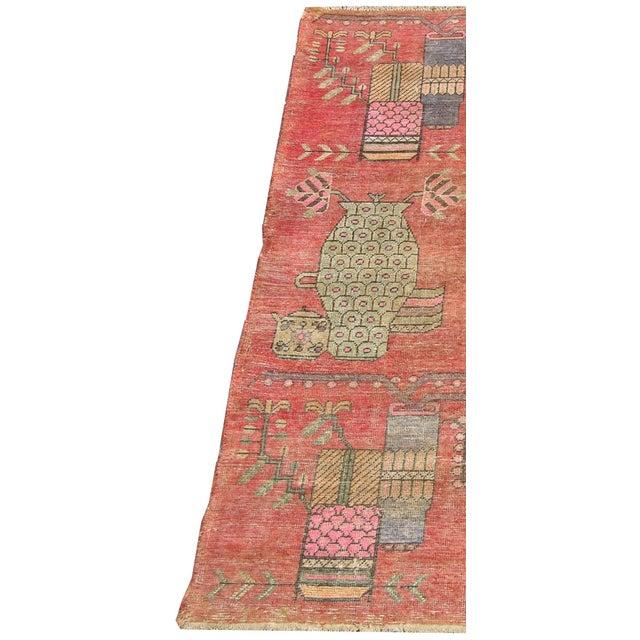19th Century Tribal Antique Uzbek Samarkand - 6'5'' X 4'4'' For Sale - Image 4 of 6