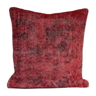Vintage Red Overdyed Pillow Cover For Sale