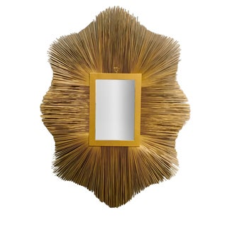 Studio a Modern Gold Wall Mirror For Sale