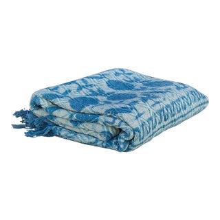 Anika Indigo Batik Throw For Sale
