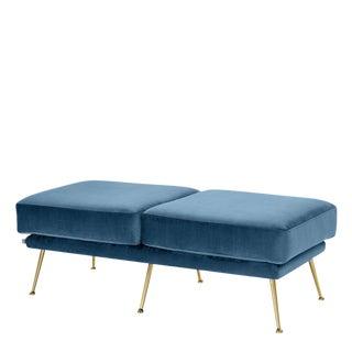Blue Velvet Bench | Eichholtz Tahoe For Sale