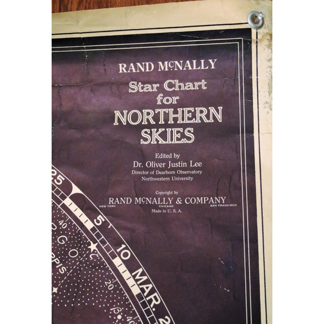 Vintage Rand McNally Star Chart for the Northern Skies For Sale - Image 5 of 11
