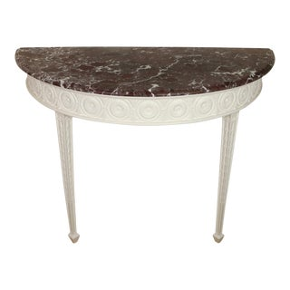 Georgian Painted Console With Marble Top For Sale