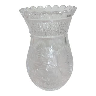 20th Century Traditional Cut Crystal Vase