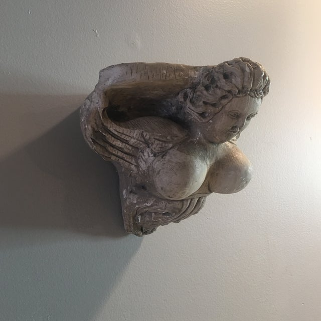 Hand Carved Buxom Figurehead Wall Mount - Image 5 of 9