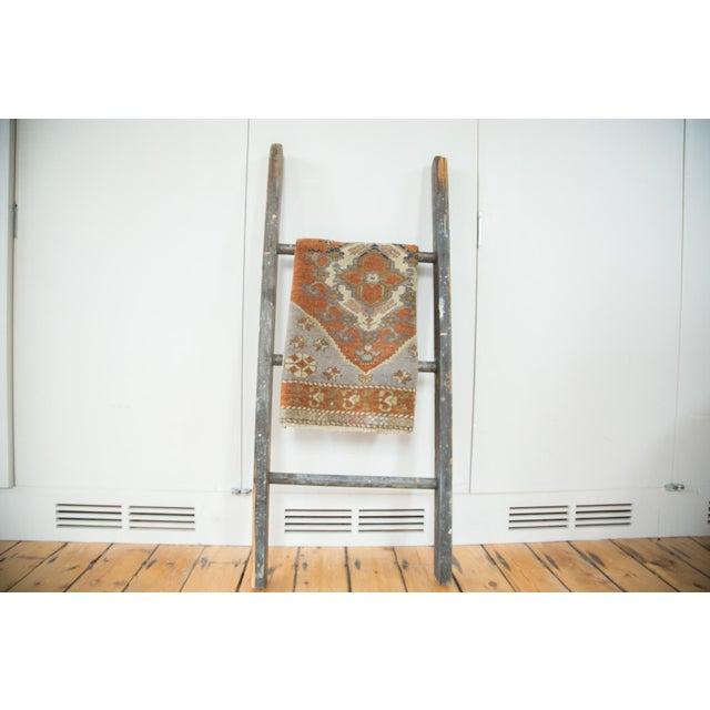 "Vintage Oushak Rug Mat Runner - 1'8"" X 2'11"" For Sale - Image 4 of 5"