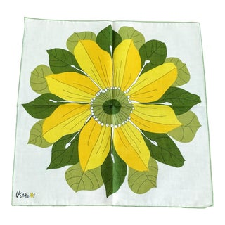 Vera Neumann Napkin Sunflower Set For Sale