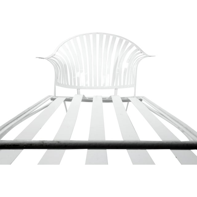 Francois Carre Vintage Fan Back Patio Chaise Lounge For Sale - Image 10 of 11
