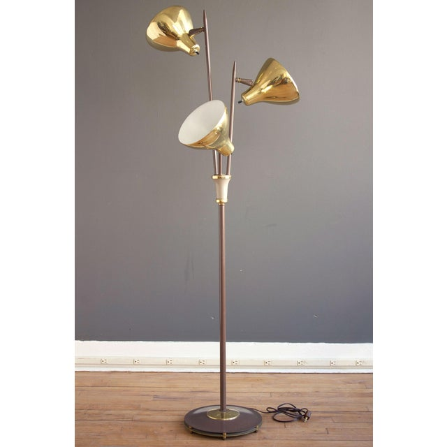 """1950s Gerald Thurston for Lightolier """"Triennale"""" Style Floor Lamp For Sale - Image 5 of 5"""