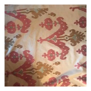 Schumacher Raja Caravan Ikat Embroidery Fabric For Sale