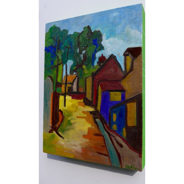 French Village Oil Painting - Image 2 of 3