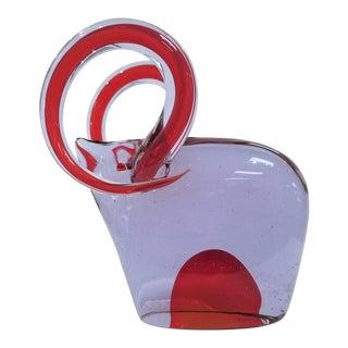 1960s Vintage Antonio Da Ros for Cenedese Murano Glass Ram For Sale