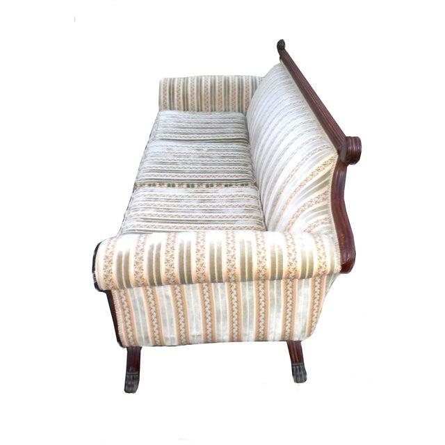 Hollywood Regency American Empire Ornate Sofa - Image 7 of 8