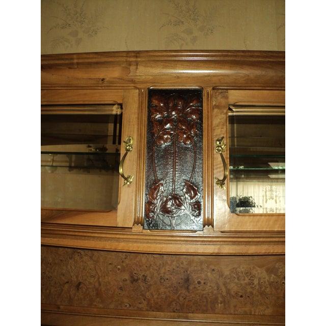 Art Nouveau 1913 French Art Nouveau Carpathian Elm Sideboard For Sale - Image 3 of 12