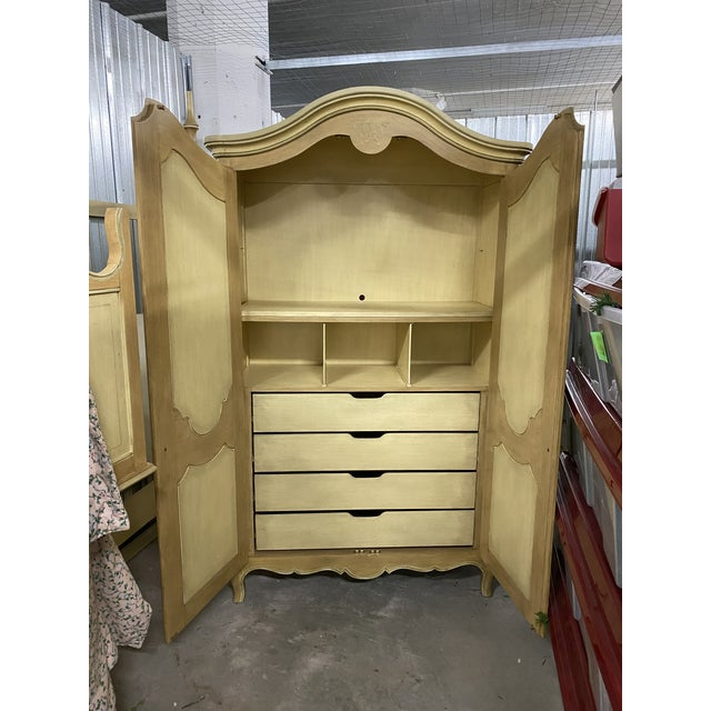 This beautiful hand-painted Julia Gray armoire is stunning- you do not come across this type and quality of furniture any...