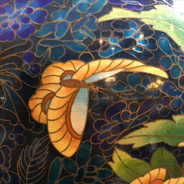Chinese Cloisonne Style Vases - A Pair - Image 10 of 11