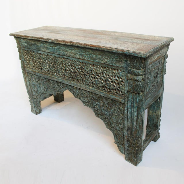 Architectural Carved Console Table - Image 4 of 6