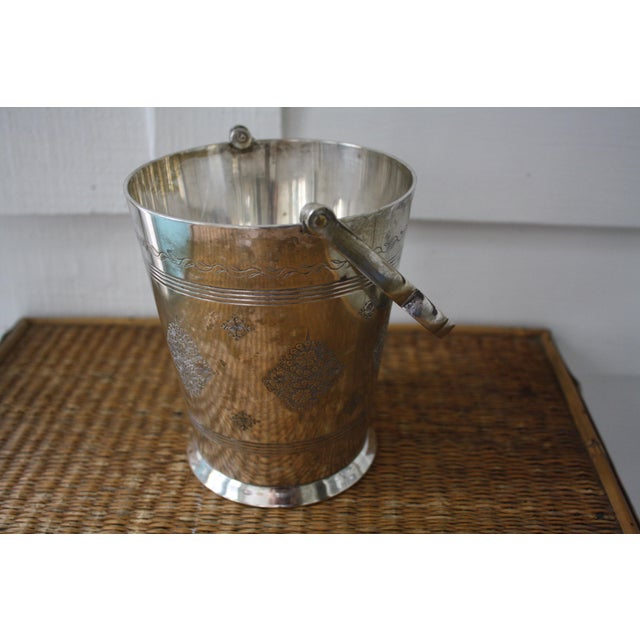 Gold Moorish Style Silver Ice Bucket For Sale - Image 8 of 11