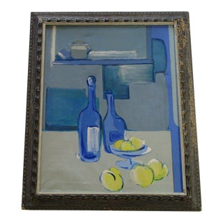 School of Paris Painting Abstract Expressionism Still Life Modernism 1950's For Sale