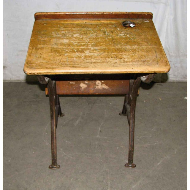 Early 20th Century Old School House Student Desk For Sale - Image 5 of 9