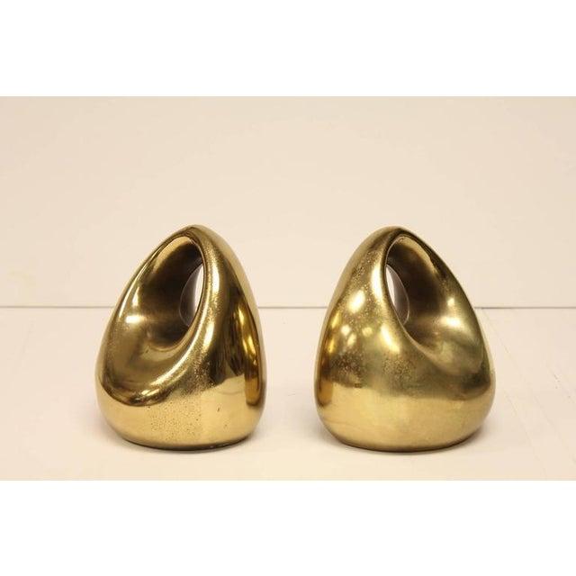 Mid-Century Brass Bookends by Ben Seibel.