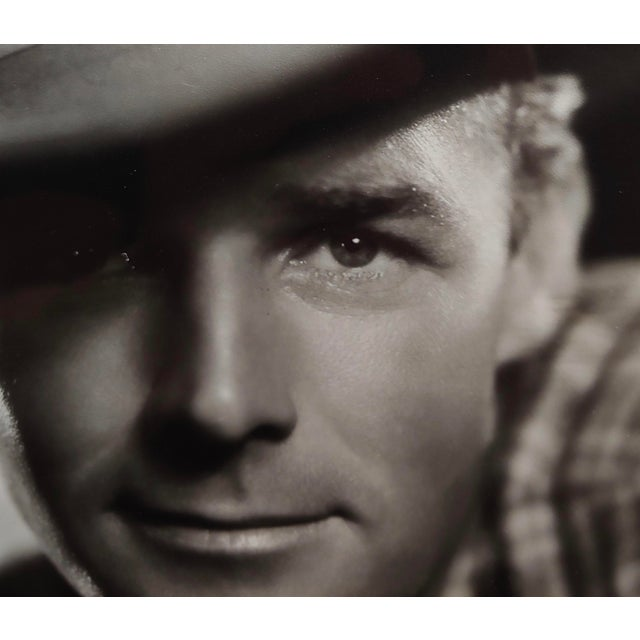 Americana Randolph Scott - 1940s Hollywood Portrait by George Hurrell -Signed For Sale - Image 3 of 8