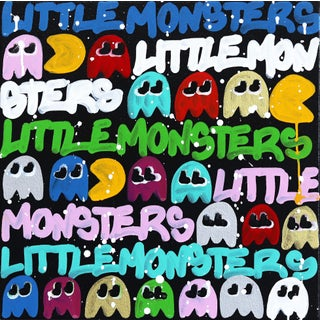 """""""Little Monsters Play"""" Original Artwork by Amber Goldhammer For Sale"""