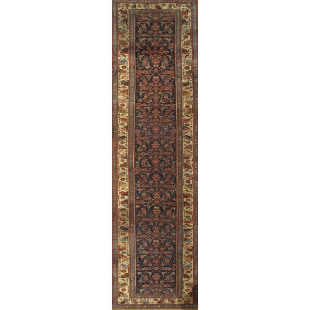 "Islamic Pasargad Antique Persian Bidjar Hand-Knotted Runner Rug - 4'3"" X 16'3"" For Sale - Image 3 of 3"
