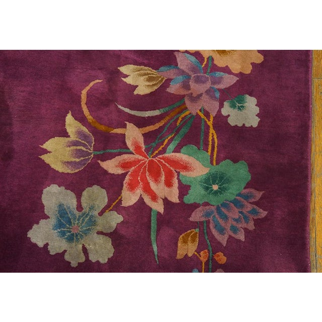 "1920s Chinese Art Deco Rug - 8'6""x11'4"" For Sale - Image 4 of 8"