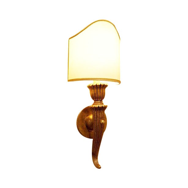 Italian Hand Carved Wood Sconce - Image 1 of 4