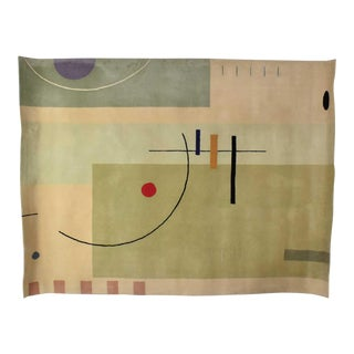 Vintage Modernist Wool Rug by Meinecke Collection Exclusively for Herman Miller, 8x11 For Sale