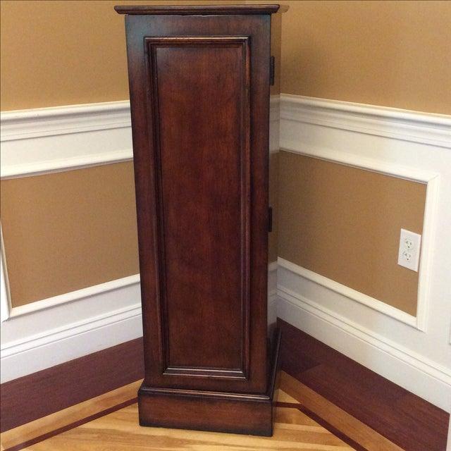Square Walnut Pedestal Dining Set - Image 4 of 5