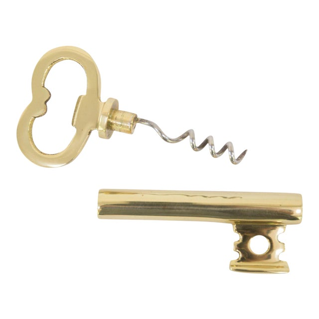 Skeleton Key Bottle Opener and Corkscrew For Sale