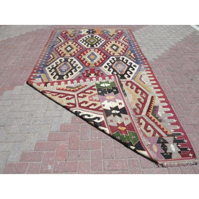 Vintage Turkish Kilim Rug - Image 8 of 9