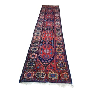 Colorful Geometric Persian Runner - 3′3″ × 14′7″