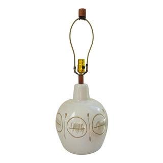 1960s Vintage Martz Table Lamp Off-White For Sale