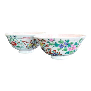 19th Century Vintage Rice Bowls - a Pair For Sale