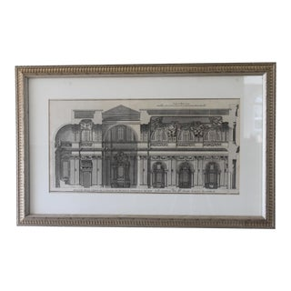 Early 19th Century Antique Spaccato De La Chiesa Architectural Print For Sale