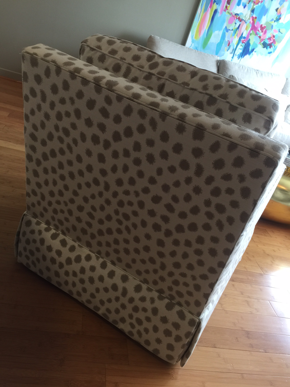 Miles Talbott Dotted Swivel Accent Chair   Image 4 Of 5