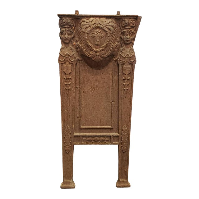Early 20th Century American Victorian Cast Iron Theater Seat Side Support For Sale