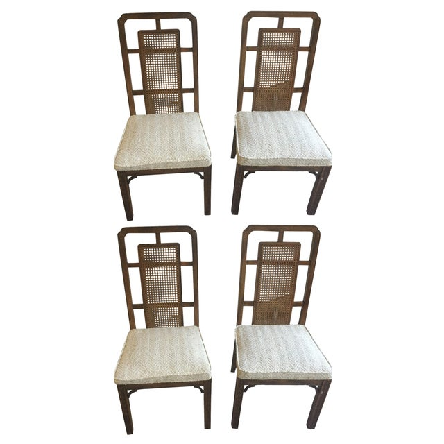 Vintage Fretwork Dining Chairs - Set of 4 - Image 1 of 4