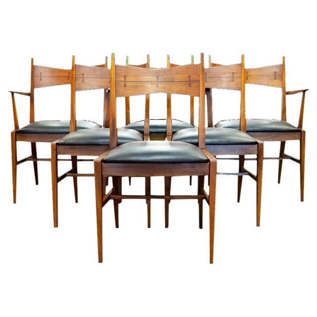 Astonishing Mid Century Modern Lane Bowtie Dining Chairs Set Of 6 Bralicious Painted Fabric Chair Ideas Braliciousco