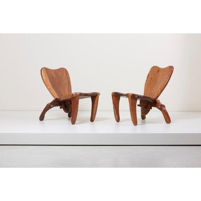 Pair of Craft Wooden Studio Lounge Chairs by Don Shoemaker, Mexico, 1960s For Sale - Image 13 of 13