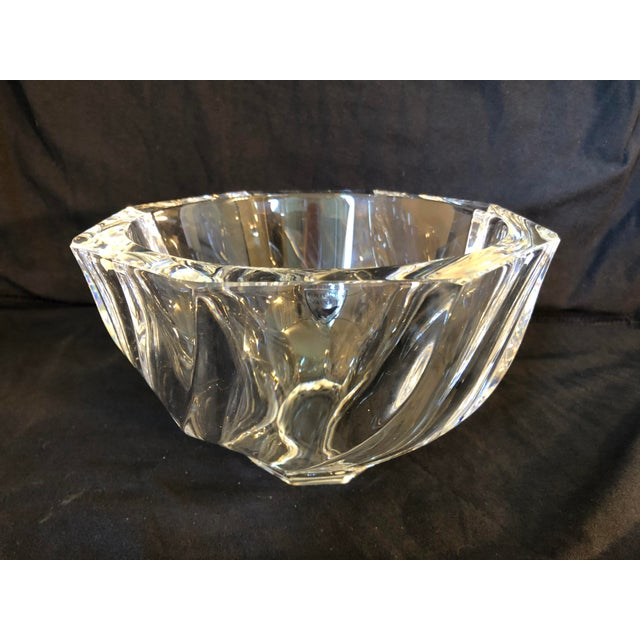 Art Deco 1980s Orrefors Residence Bowl by Olle Alberius For Sale - Image 3 of 11