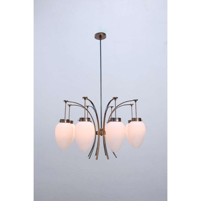 Blown Glass Large Italian Chandelier For Sale - Image 7 of 11